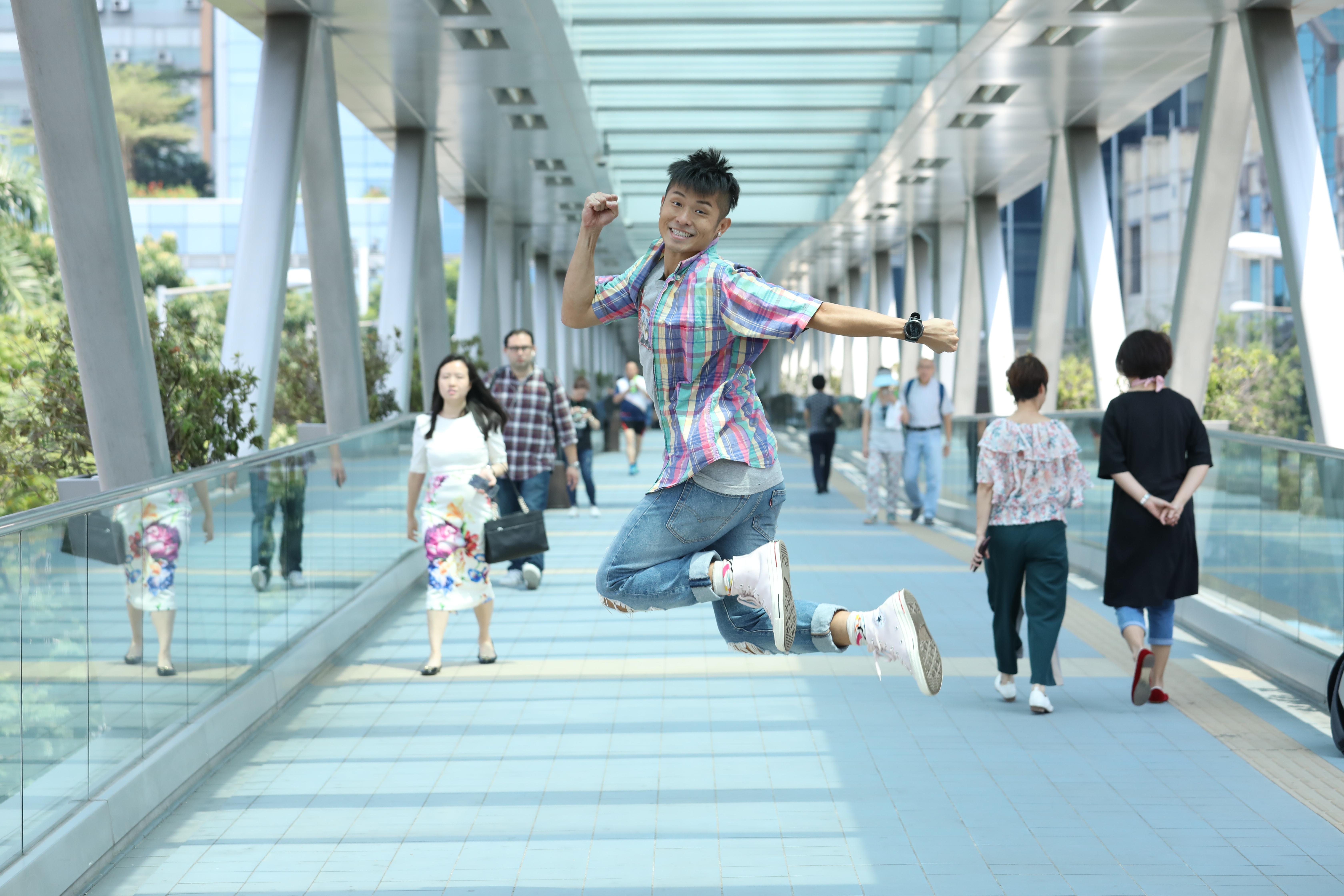 方紹聰慶幸當日趕去電視城面試,加上面皮厚,令他成功追夢。