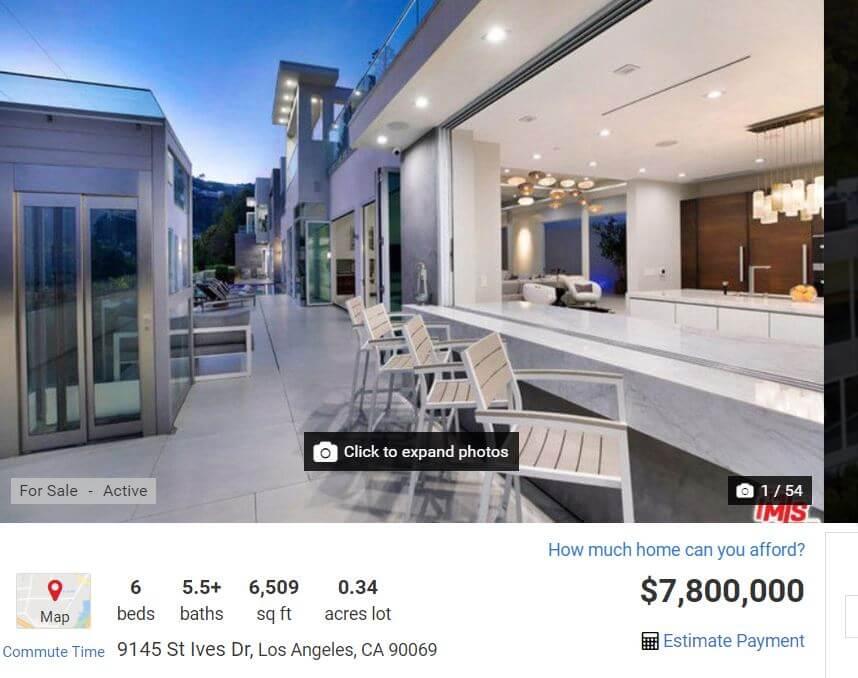 別墅設備極盡奢華,亦有不少戶外空間,近八百萬美元的價錢只是前年的一半。