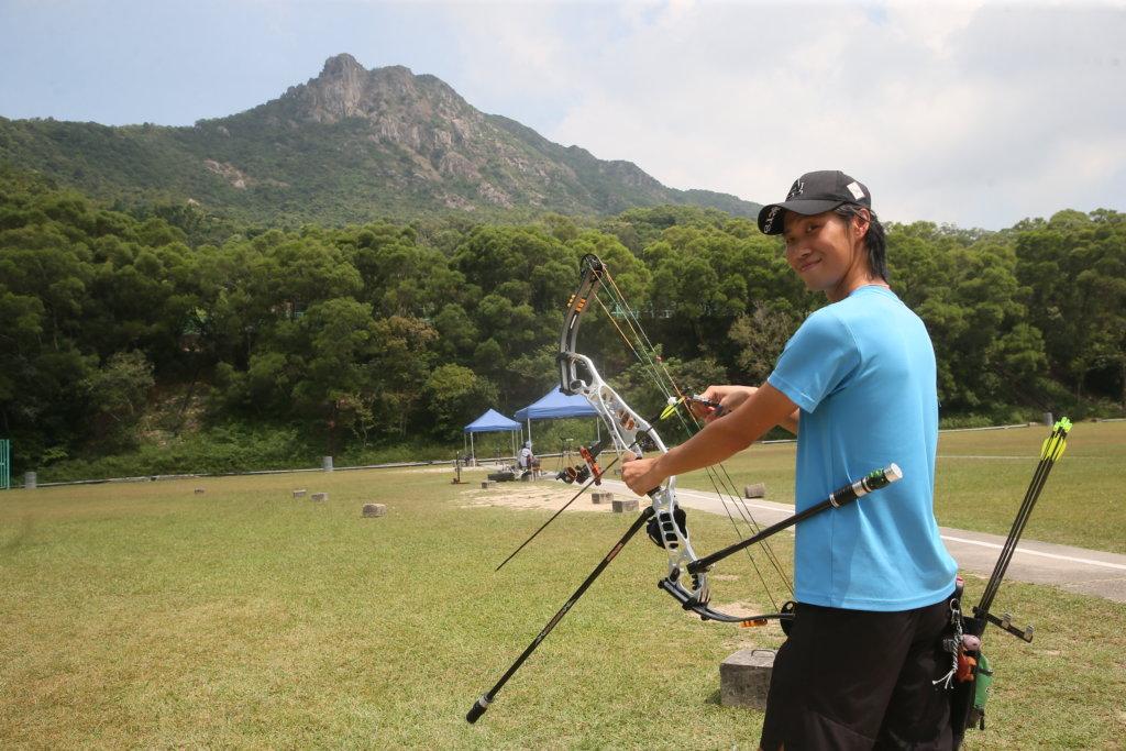 獅子山射箭練習場是崔俊杰平時練習的地方。