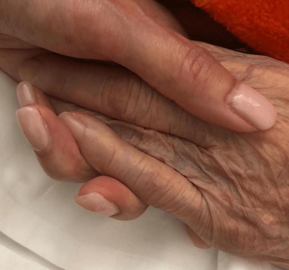 可盈與外婆的感情非常好