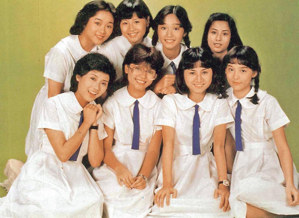 譚玉瑛(後排)與翁靜晶、露雲娜、陳復生、周秀蘭等演出青春劇《荳芽夢》