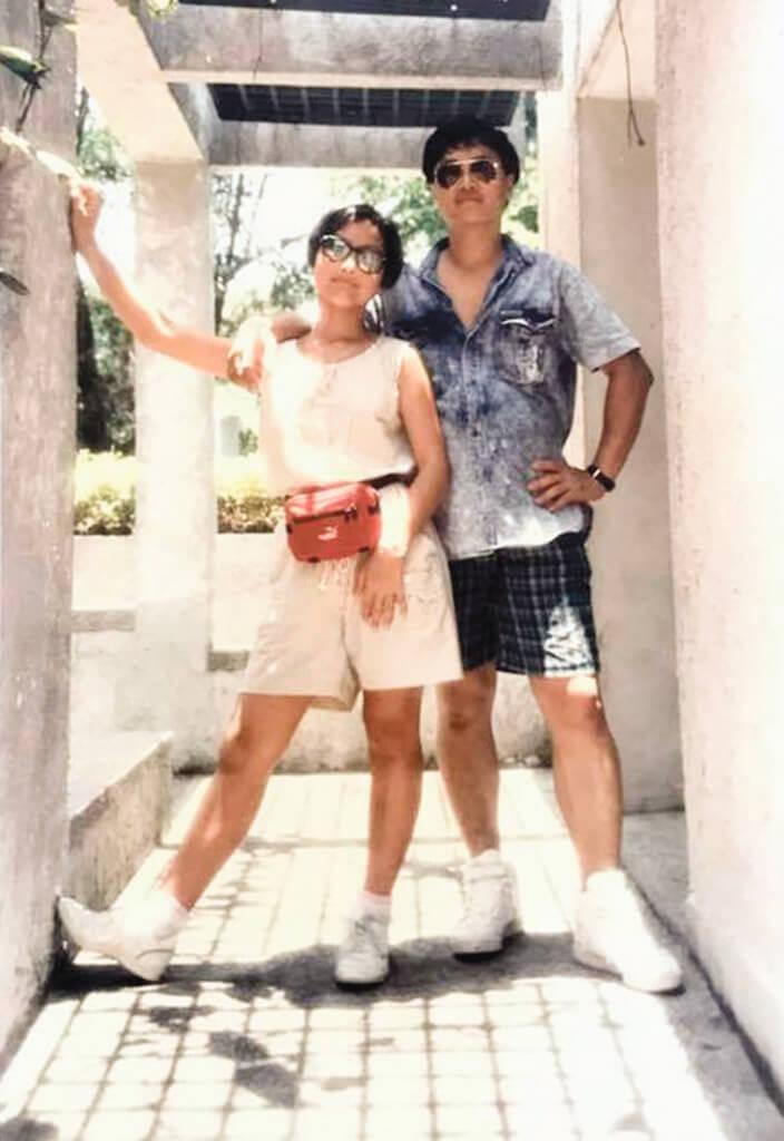 楊詩敏的爸爸年輕時十分有型