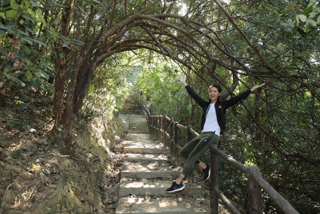 余香凝覺得行山好像做人做事,堅持下去才可看見成功的一天。
