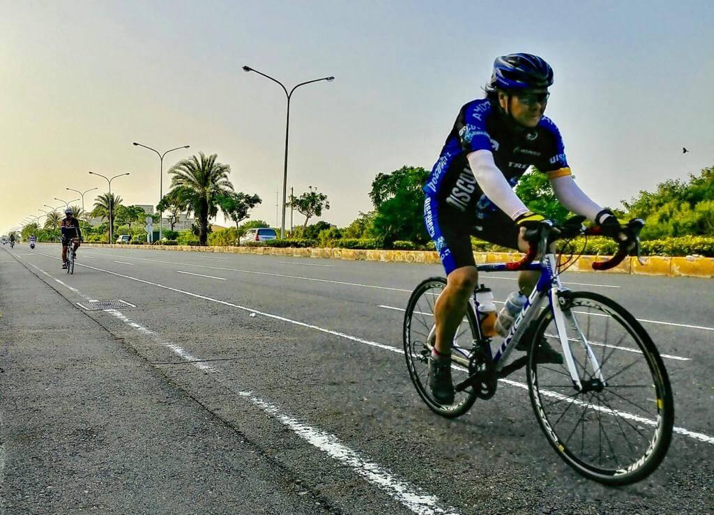 大AL今年在台灣完成超過一千公里的單車環島遊,全靠毅力與堅持。
