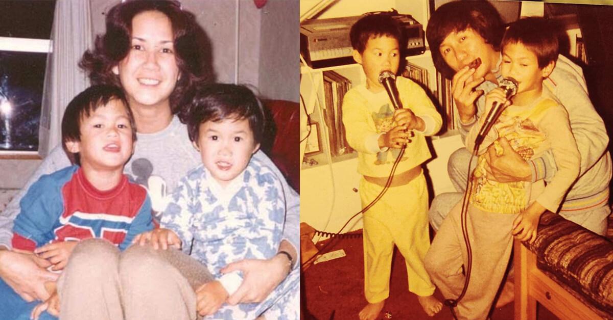 懷欣和懷谷的童年照
