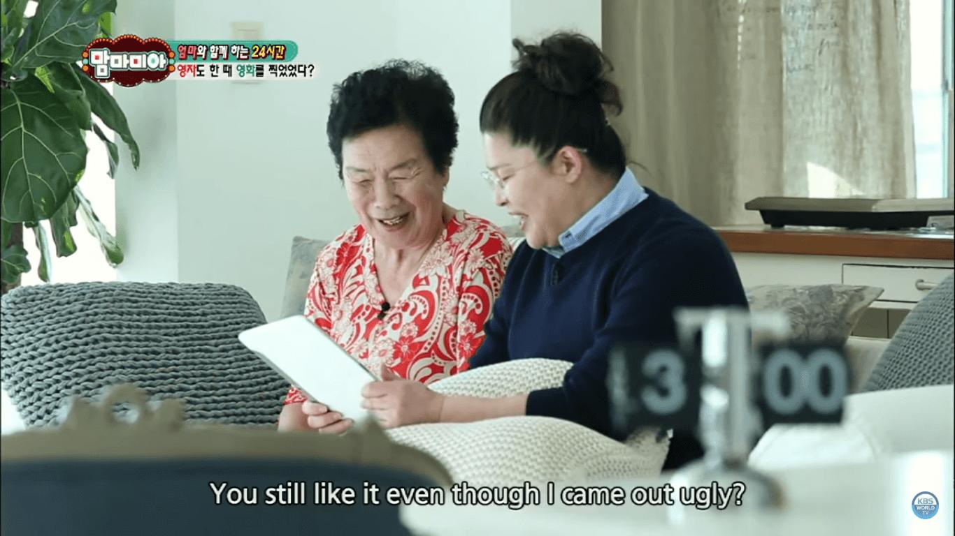 李英子曾跟媽媽一起上節目