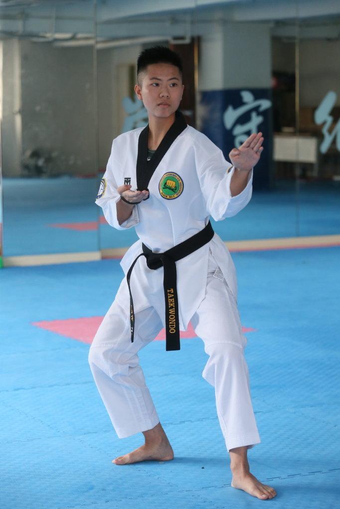 羅倩兒在跆拳道上的堅持,令她變得更堅強。