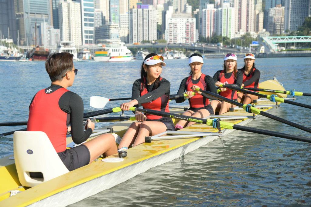 賽艇隊的訓練非常辛苦,卻無阻她們對賽艇運動的熱誠。