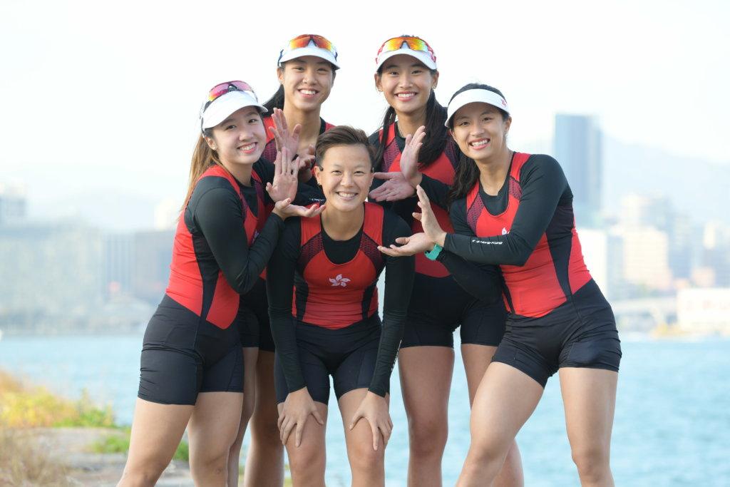 謝欣妏帶領梁穎桉、洪詠穎、梁瓊允及黃湘儀在世界賽艇海岸錦標賽取得金牌。