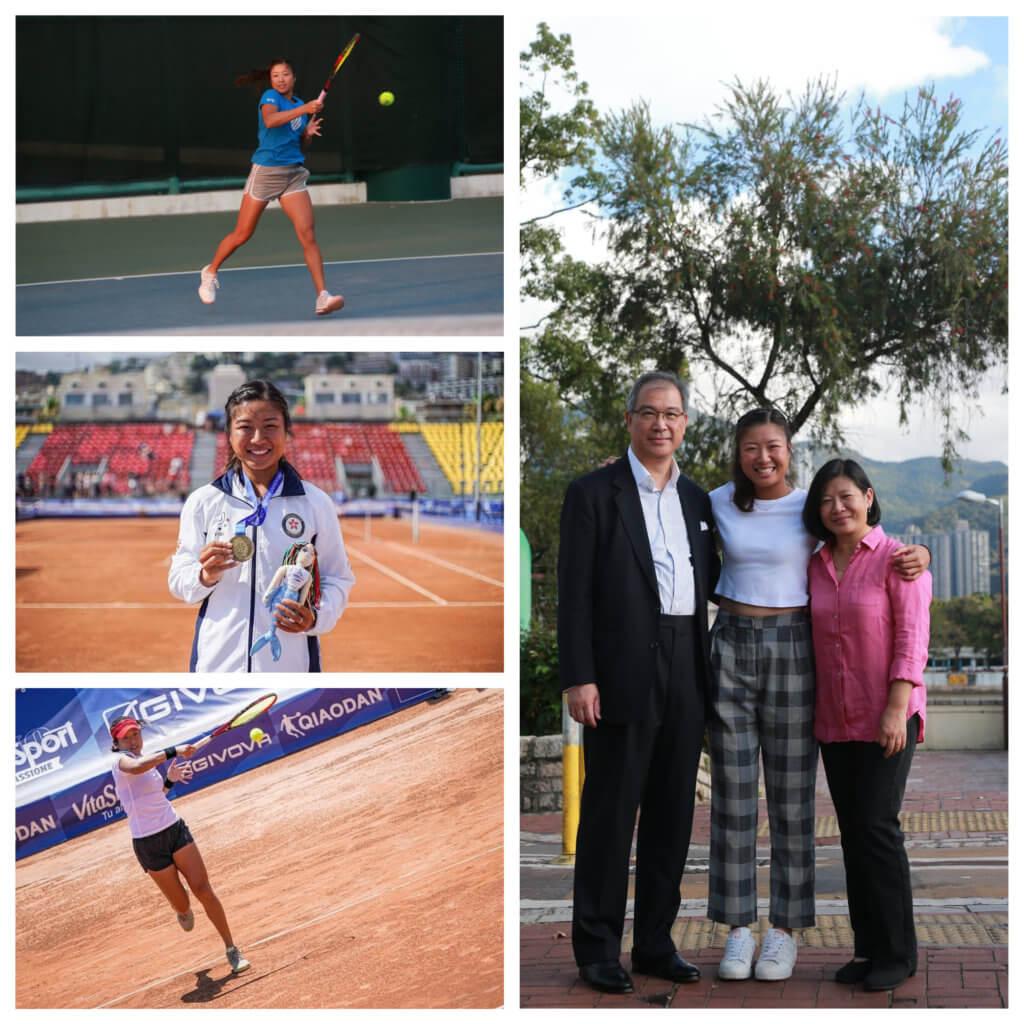 爸爸、媽媽都是網球愛好者,張瑋桓自小有機會接觸網球運動。
