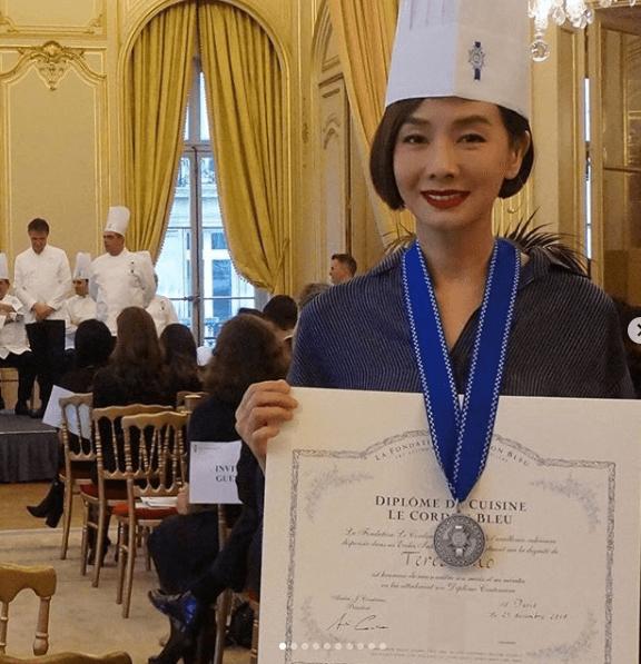 毛舜筠遠赴法國考獲藍帶廚藝課程