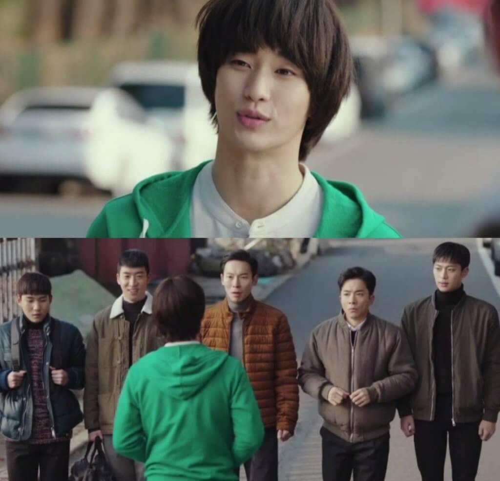 《愛的迫降》中,金秀賢穿上當年《3個特攻美少年》時的戲服,神還原當年角色。