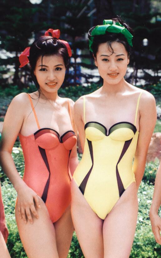 康華九四年參選港姐入行,黃𨥈瑩是其中一位熱門,那年的冠軍是譚小環。