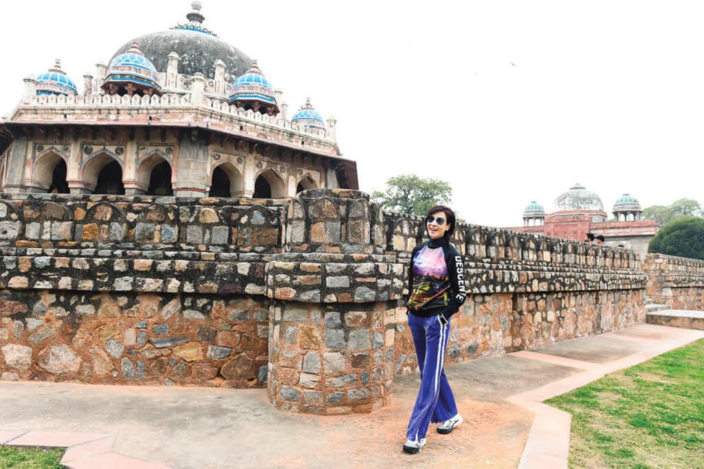 林漪娸在印度留影