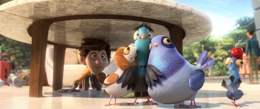 韋史密夫聲演的特工變雀(左二)後,與一眾雀鳥同伴的行徑,爆笑癲喪。