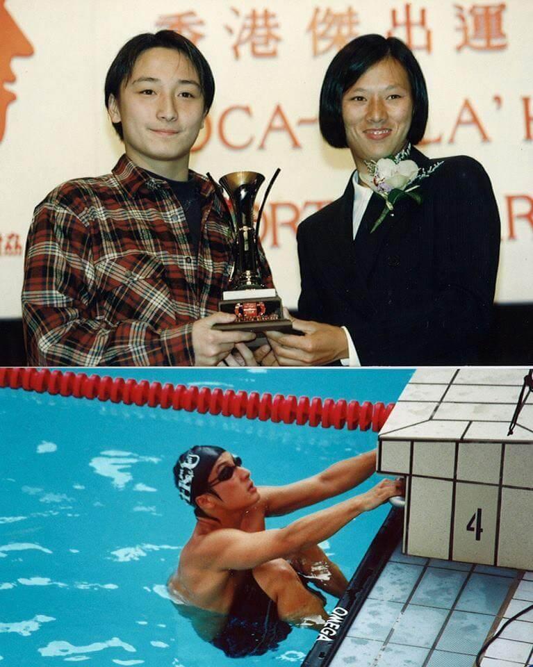 方力申十多廿年來是兩項游泳紀錄保持者,當年做運動員時從風帆天后李麗珊手上捧過獎盃,現在他加多一項環島泳紀錄。