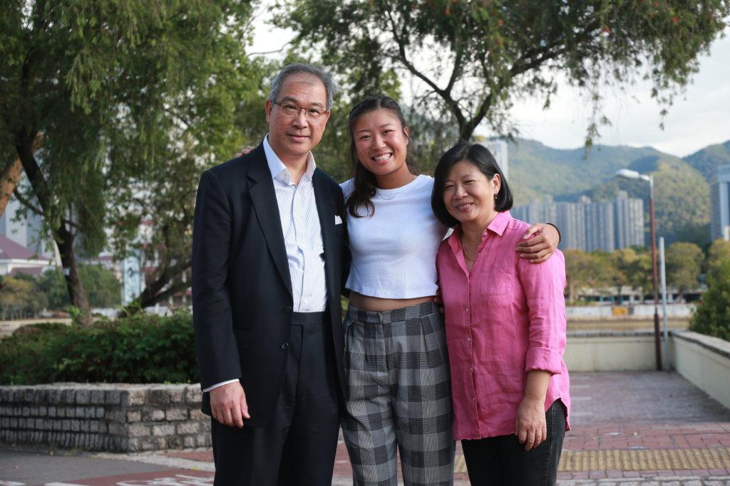 張瑋桓作為香港網球一姐,爸爸、媽媽是她最重要的支柱。