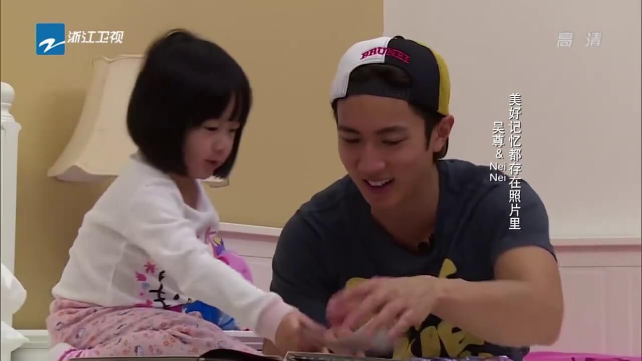 吳尊與女兒Nei Nei在2014年拍攝真人Show《爸爸回來了》。
