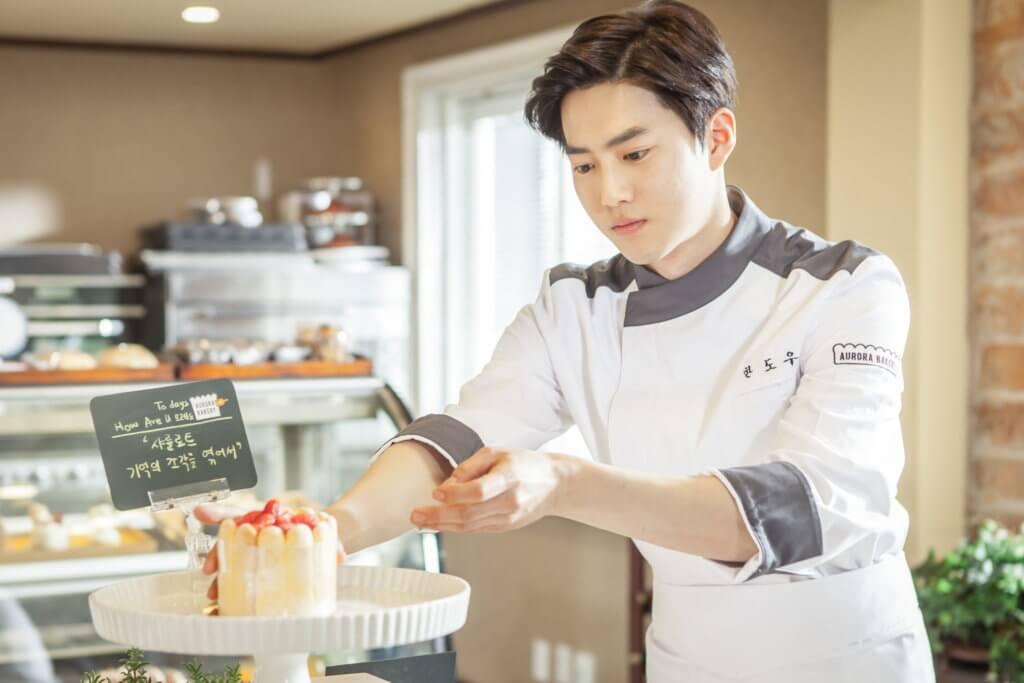 Suho在劇中是個天才麵包師,父親卻是韓國傳統美食的著名廚師,父子因此而不和。