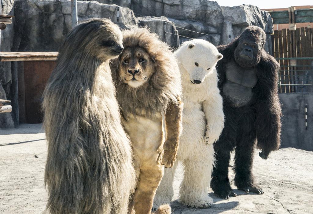 是真是假,是人還是動物?總之大家目的只有一個:就是挽救動物園。
