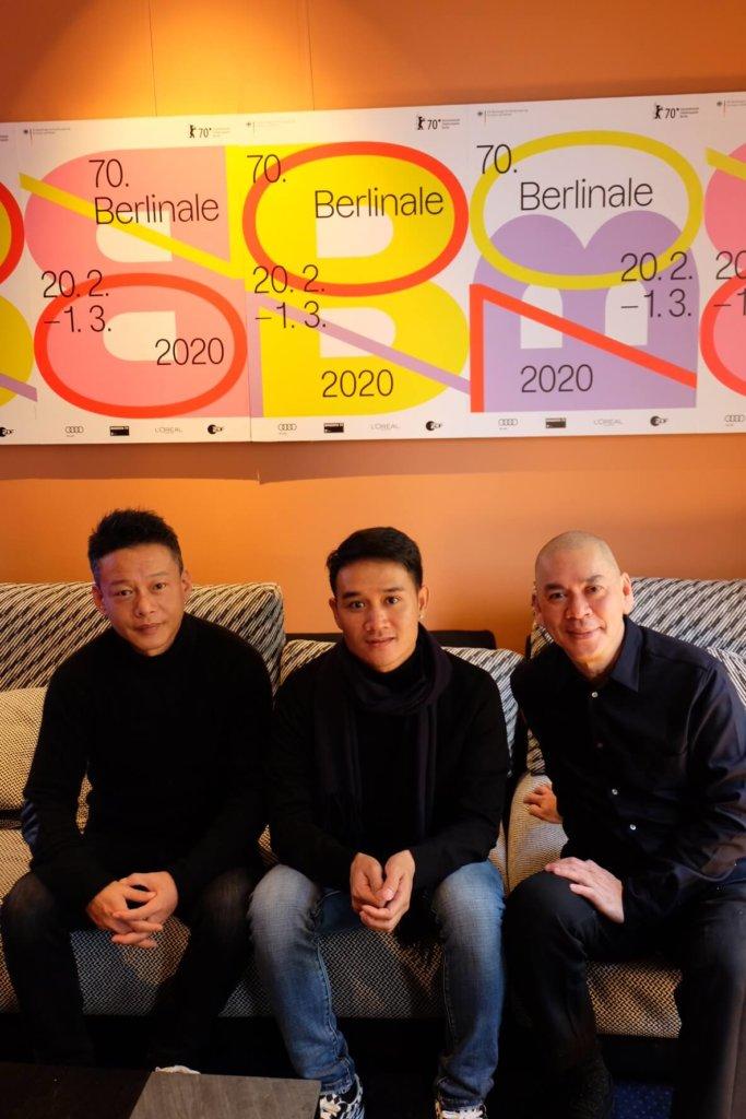 左起)李康生、Anong 及蔡明亮關係有如家人