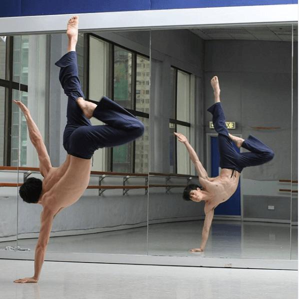 劉俊謙與女友同樣喜愛現代舞,志趣相投。
