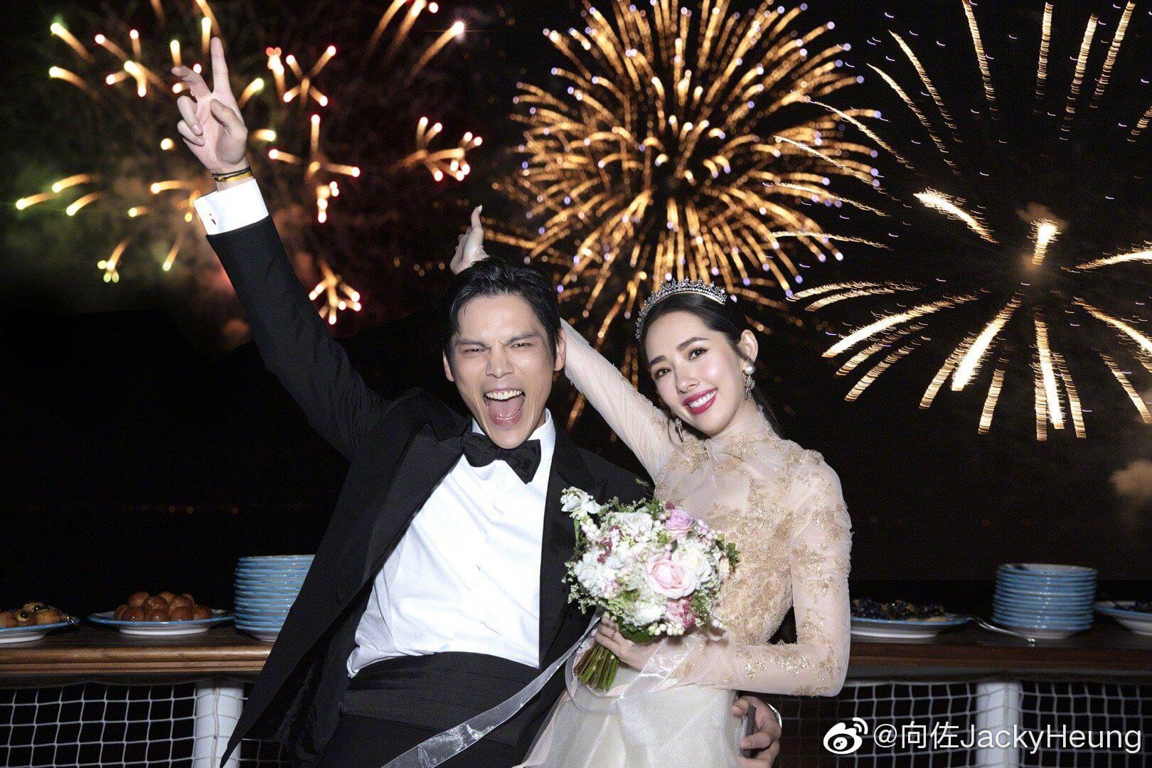 向佐與郭碧婷去年九月在意大利卡布里島舉辦婚禮。