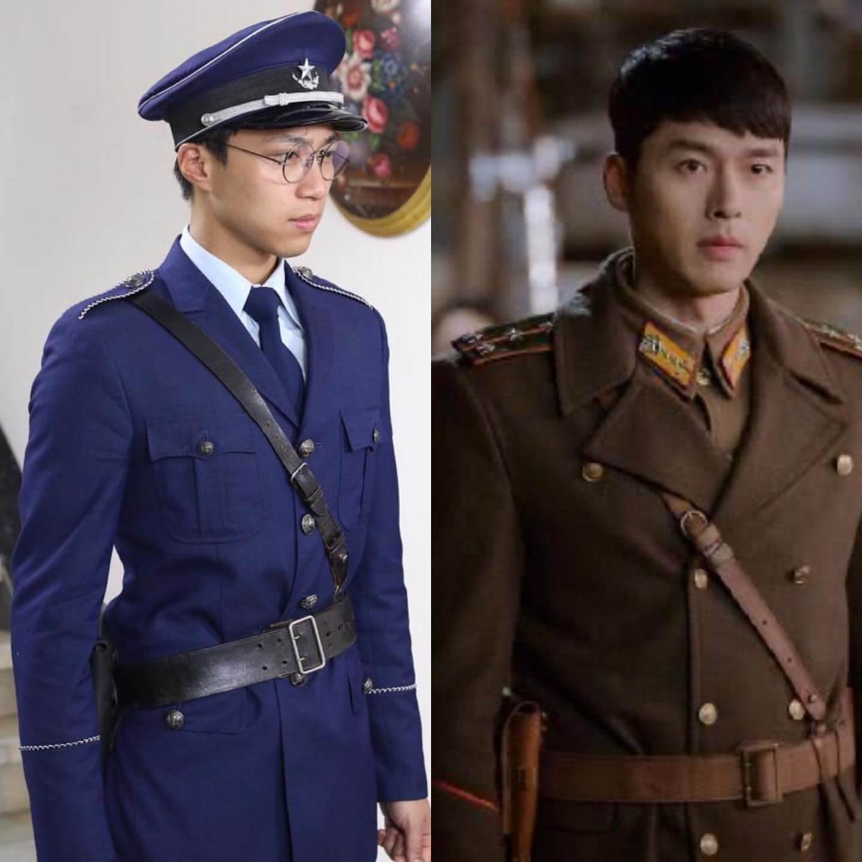 吳業坤將自己在《大醬園》的軍裝造型與玄彬在《愛的迫降》造型一起比較,還改名做「玄坤」。