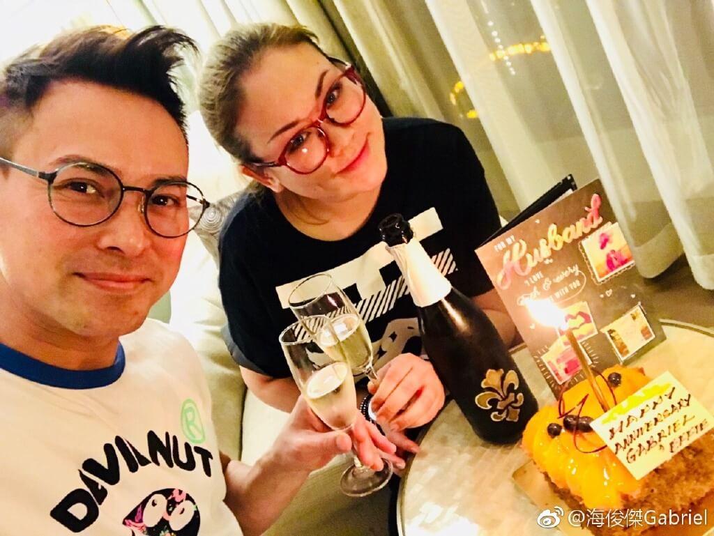 海俊傑在北京發展遇上挫折,幸得做化妝師的太太Effie支持。