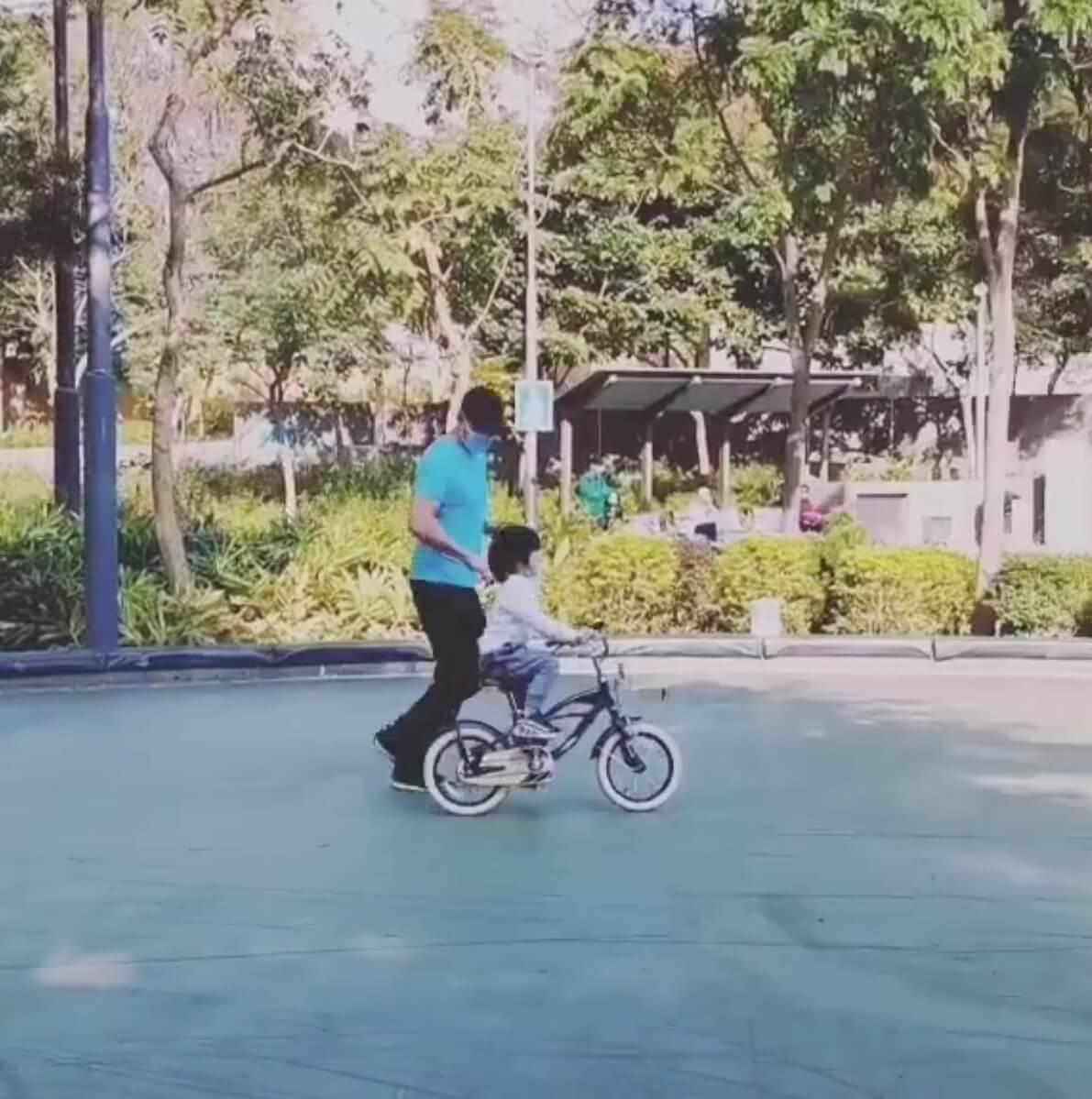 黃祥興大讚Tristan有踩單車天分。