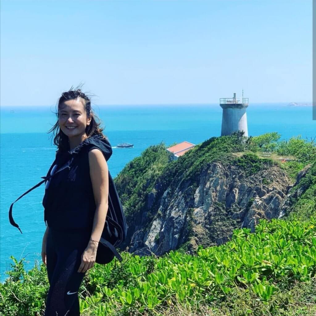 港島區有不少行山徑,黃宇詩間中會一個人去行山,吸收大自然的氣息。