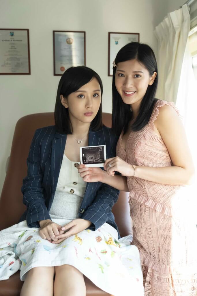 余香凝與陳在靜戲中飾演閨密姊妹