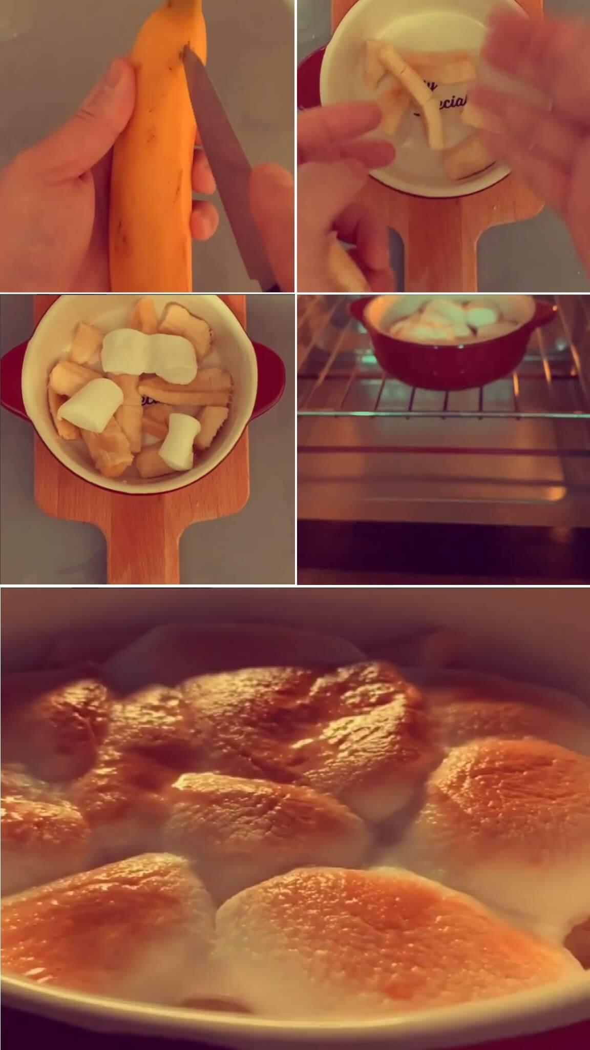 他最新發布一段自家製甜品「香蕉棉花糖」短片,清楚拍攝每一個步驟與粉絲分享。