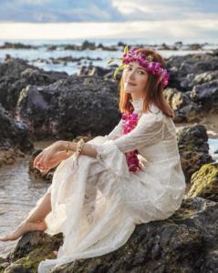 Elva上月到夏威夷舉行婚前派對