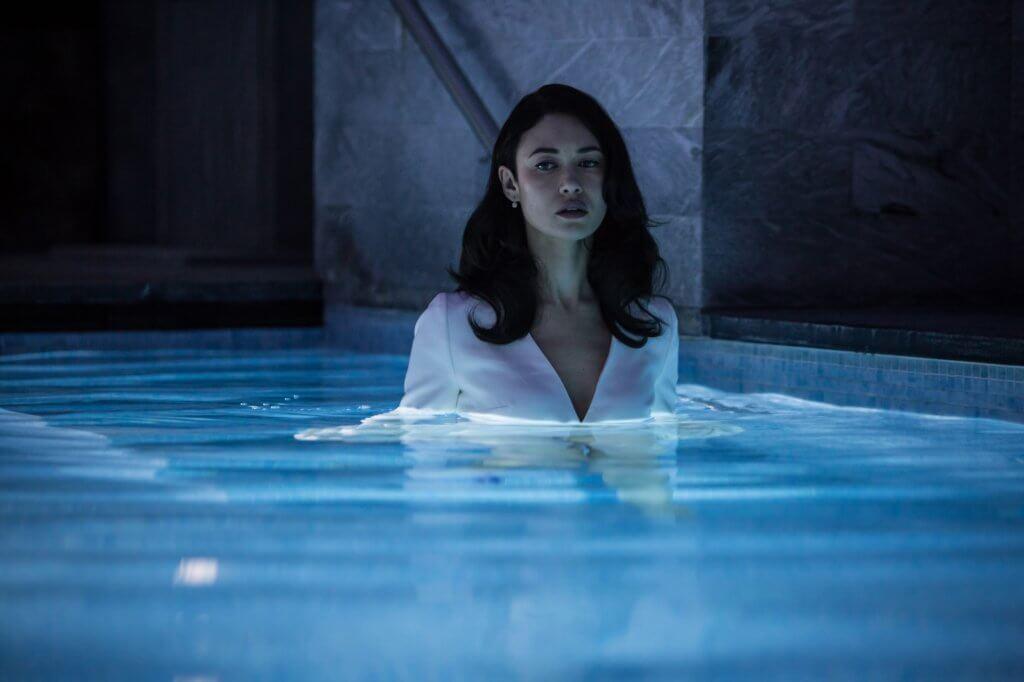 邦女郎奧嘉古莉寧高扮演的嫌疑翻譯員,性感冷艷。