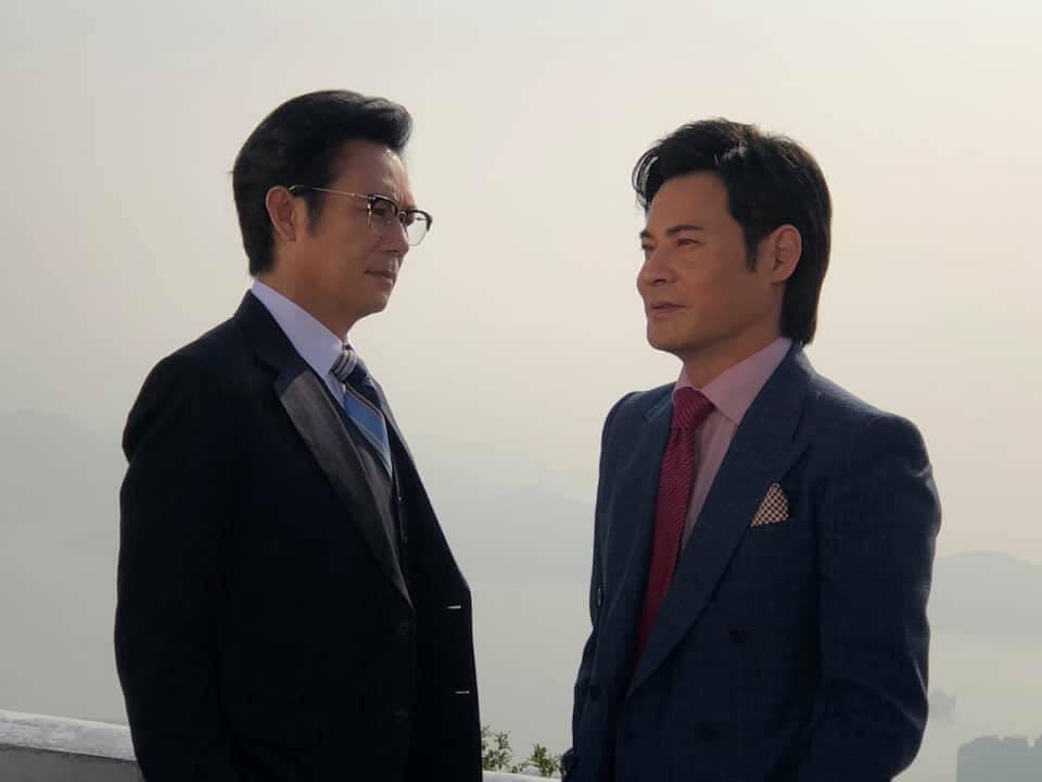 黃智賢與張兆輝在劇中鬥戲,但私下老友鬼鬼。