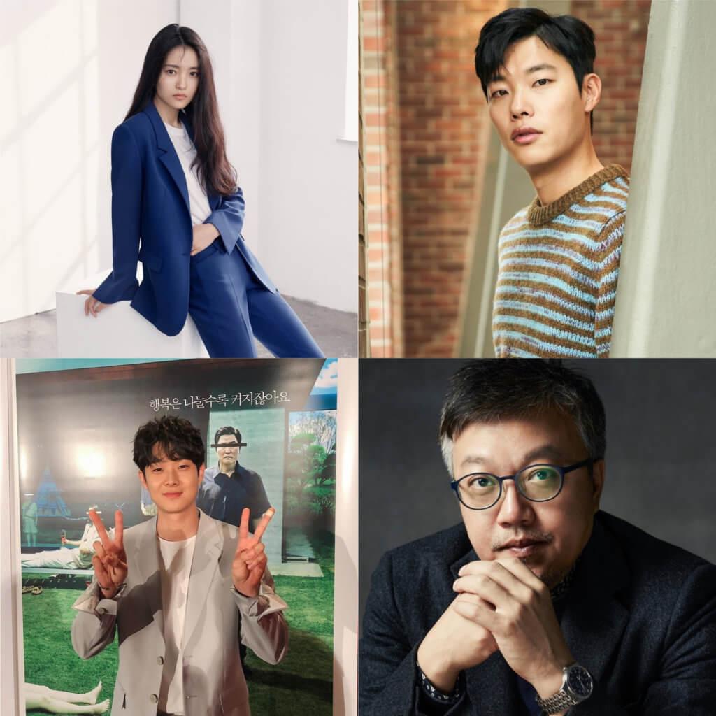 崔東勛(右下)曾執導多部韓國票房賣座作品,在《外星人》中,找了金泰梨(左上)柳俊型(右上)及崔宇植演出。