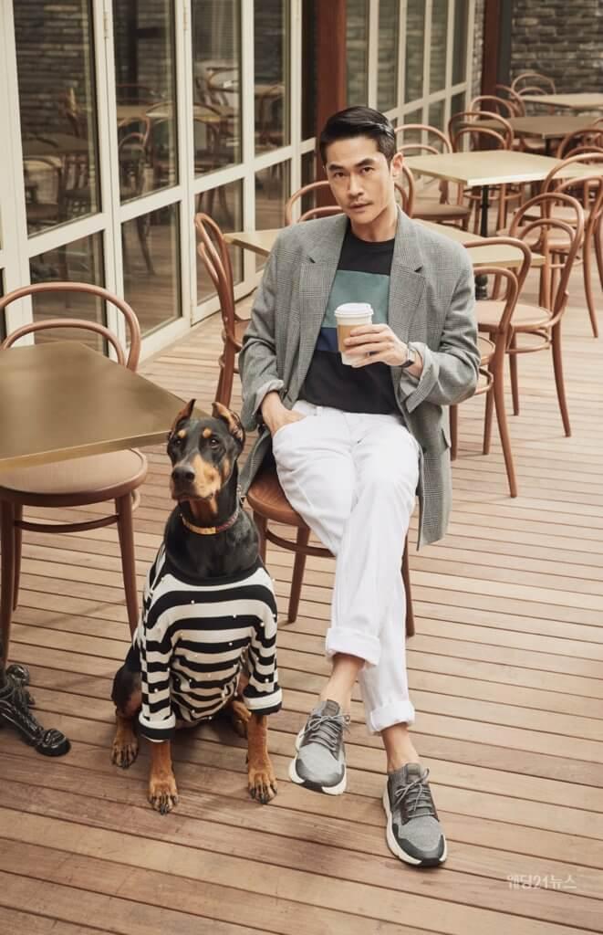 裵正楠為雜誌拍攝也不忘讓愛犬出鏡