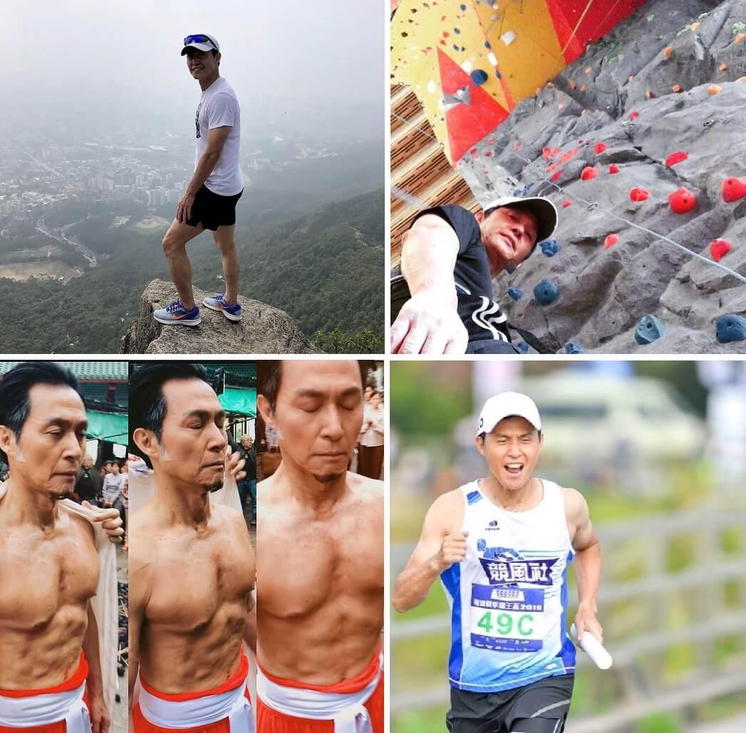 KK雖然年屆六十多,但酷愛運動,體格勝過不少年輕人。