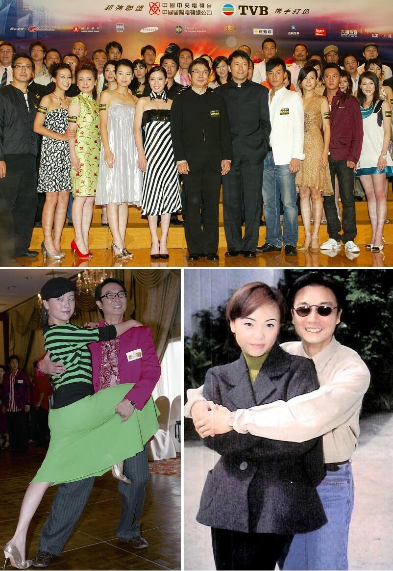 雯女與松哥合作過不少電視劇,例如《男人之苦》(左下)、《歲月風雲》(上)、《國際刑警》(下右)、《玫瑰江湖》,獲益不淺。