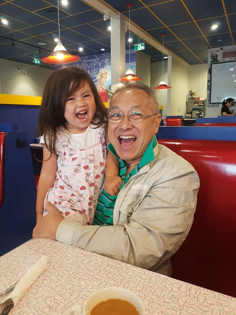 于洋的孫女五歲,是他大仔的女兒。