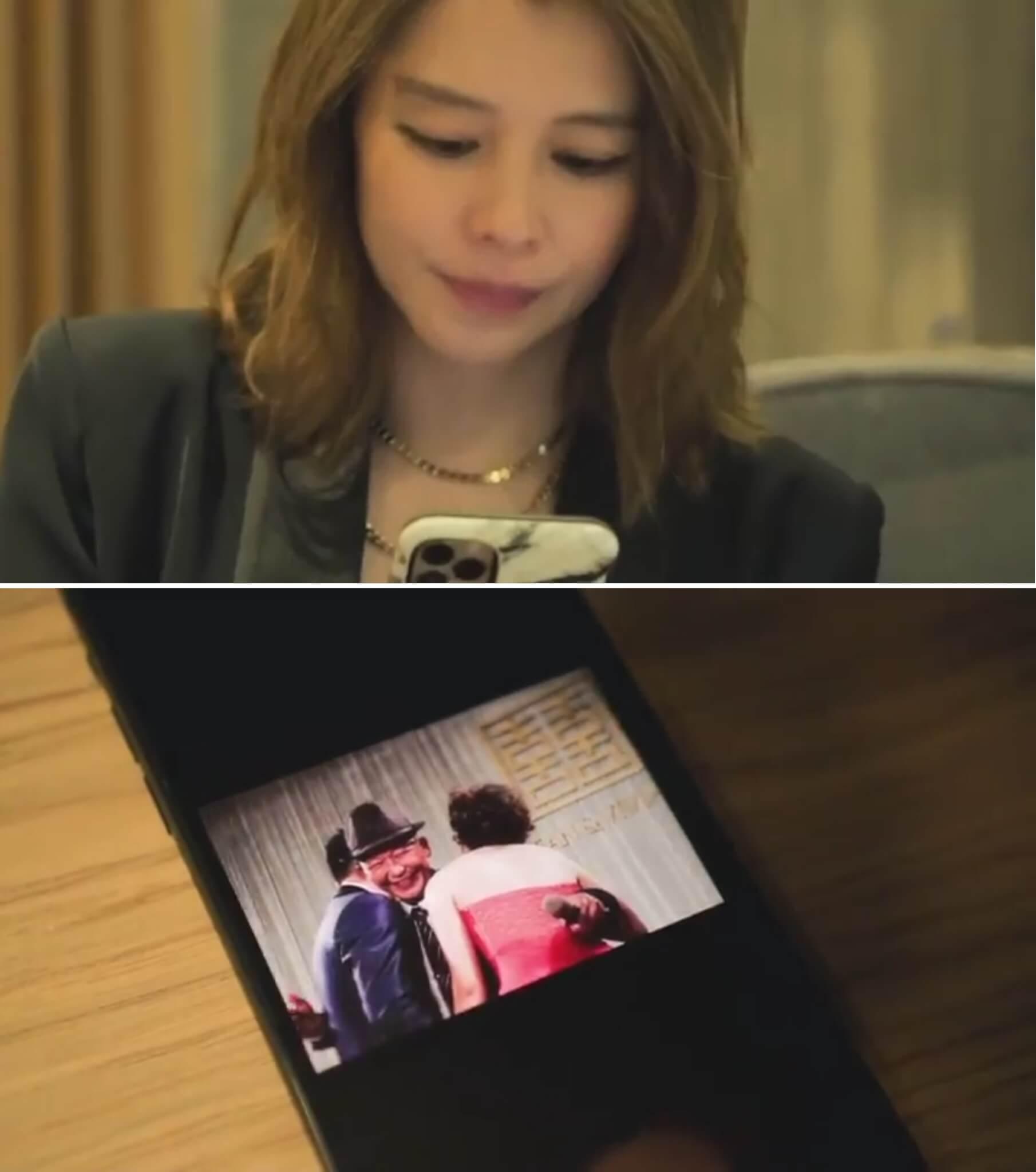 徐若瑄重溫舊照片,回想爸爸的好。