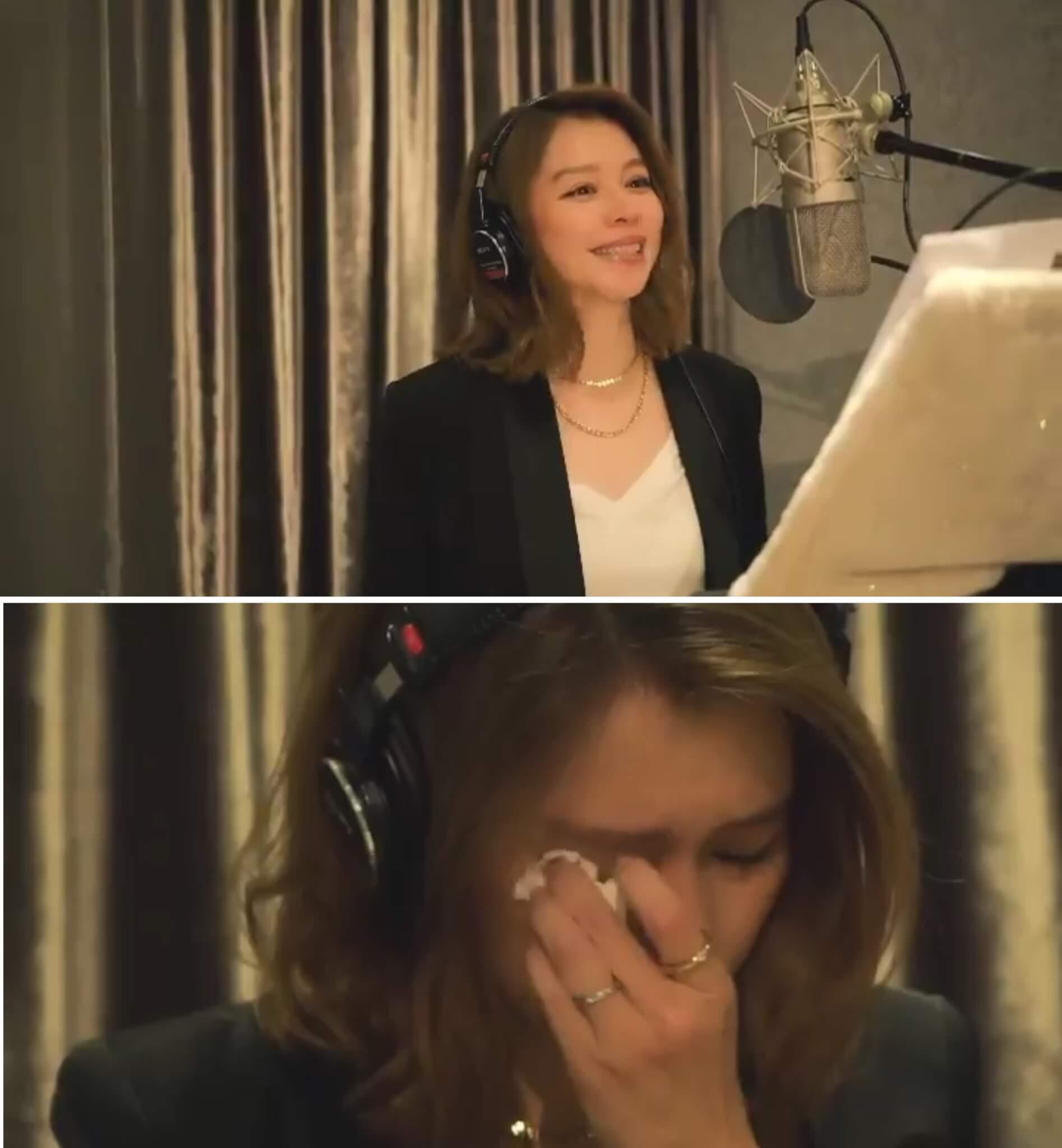 新歌滿載回憶,徐若瑄時而會心微笑,時而難過流淚。