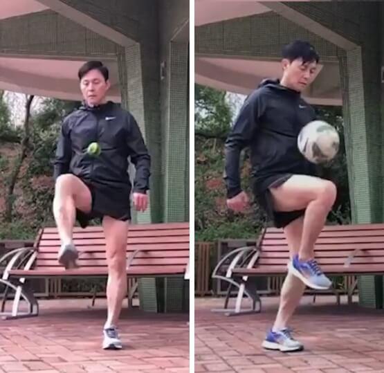 KK球技了得,體能亦很強,面不紅氣不喘。