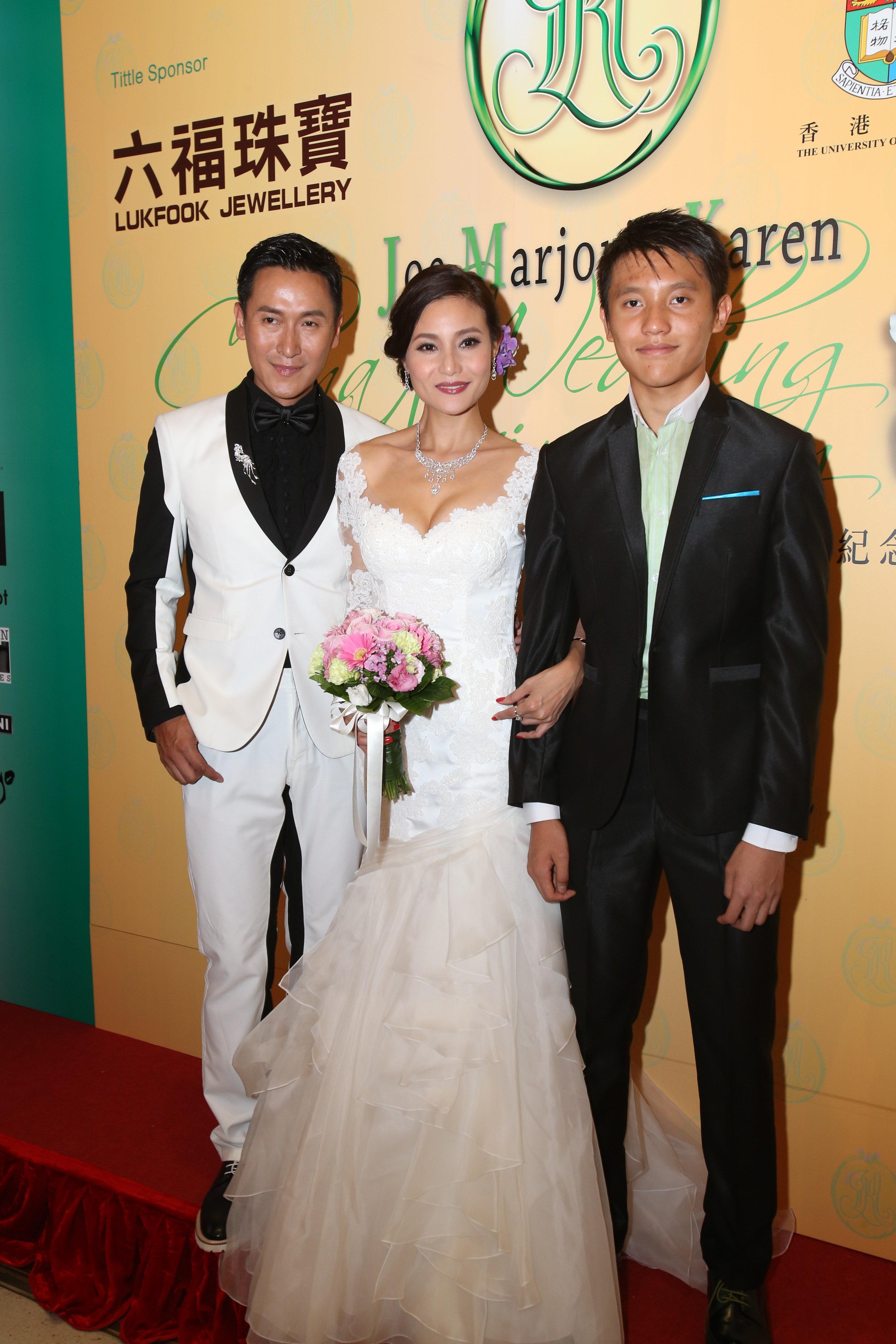 馬德鐘與張筱蘭在2013年舉行瓷婚慈善晚會,當時只得十四歲的Xiang的身高已經與爸爸相若,現在就更加「高人一等」啦。