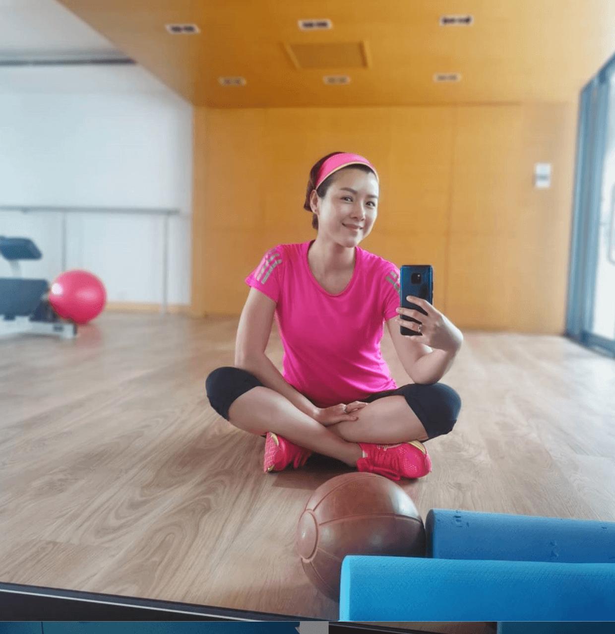 Aimee經常做Gym保持弗爆身材