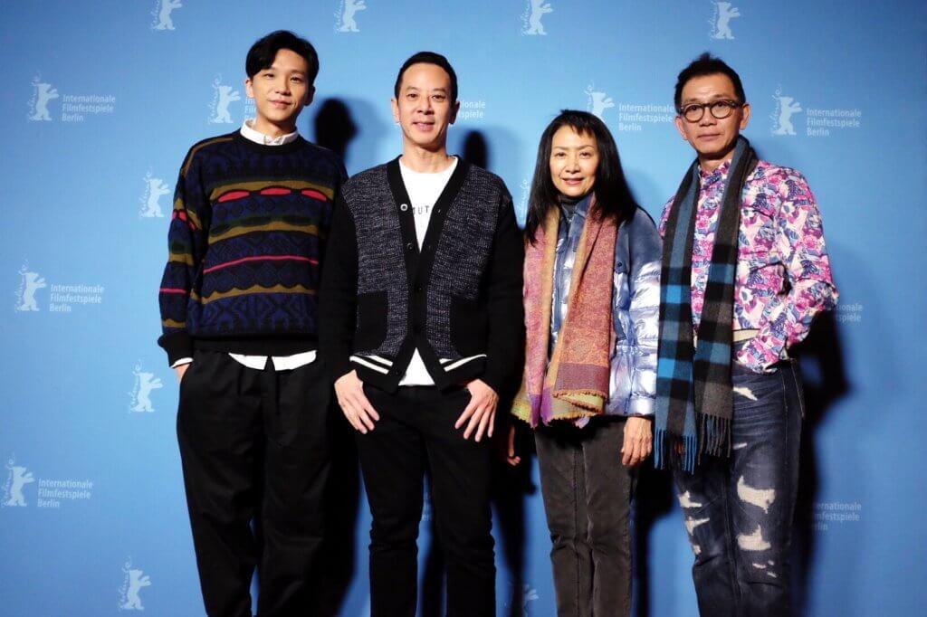 盧鎮業與電影《叔‧叔》導演楊曜愷、演員區嘉雯和袁富華一起出席柏林影展。