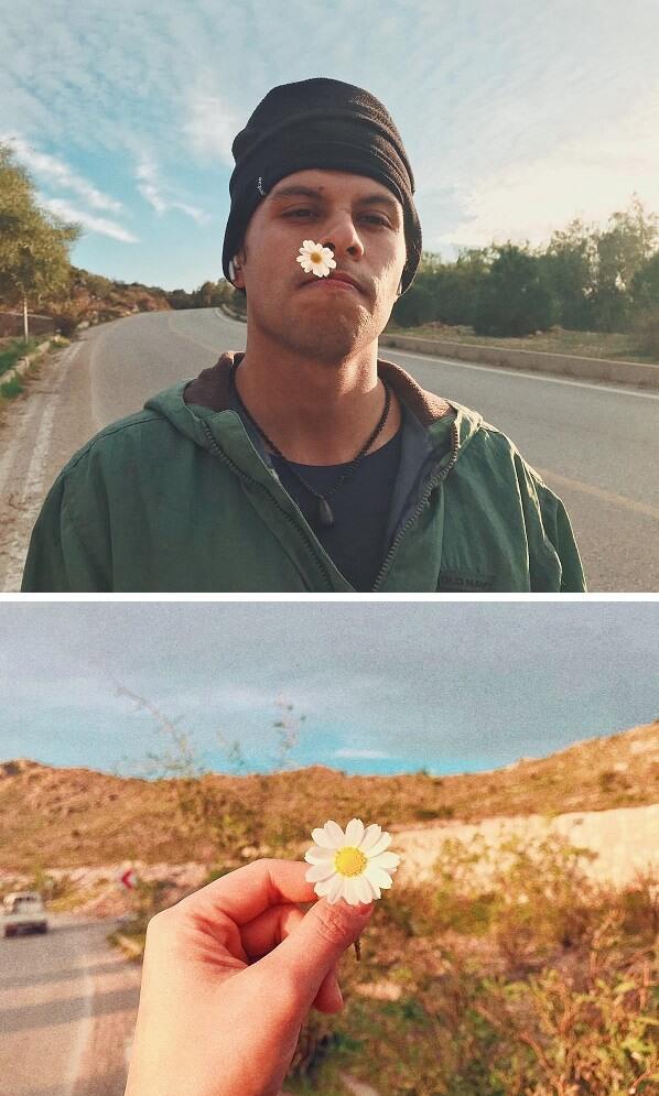 男友P先生摘了一朵小白菊送給慧敏哥,一個簡單小物作已令她暖入心。