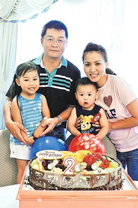 黎瑞恩與曾智明在二○一四年離婚,她母兼父職照顧子女。
