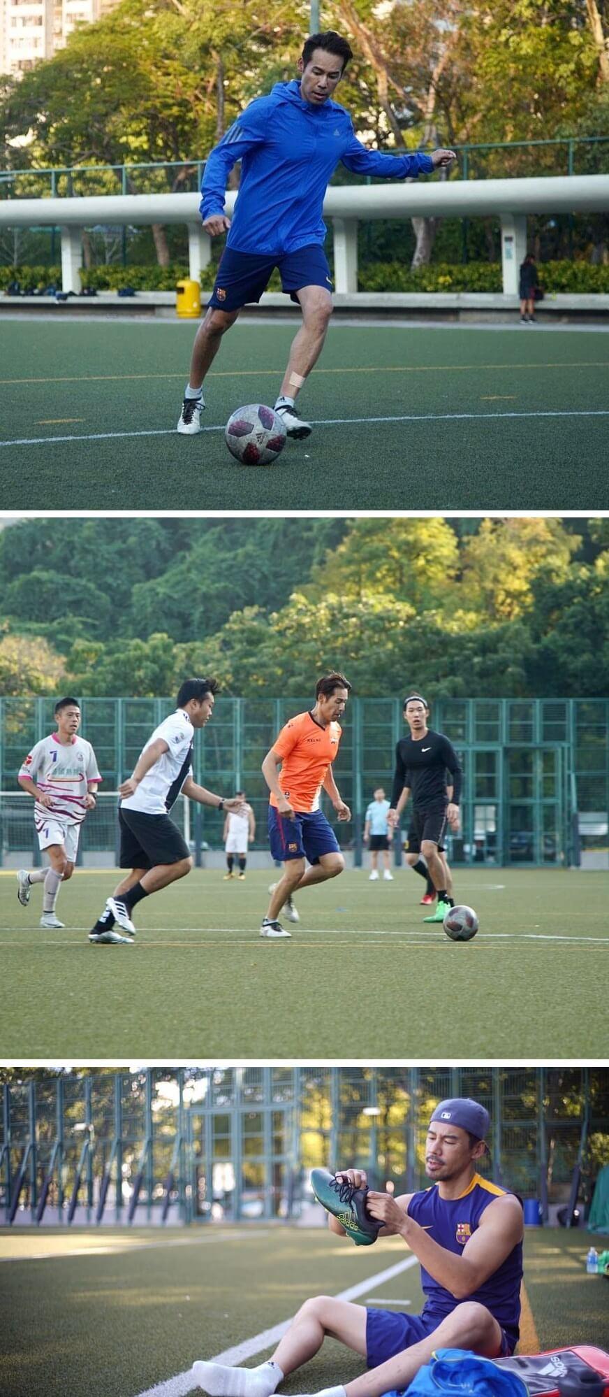 徐榮的朋友留言建議他父子一起落場踢,更相約球場重開一起踢友誼波。